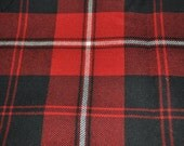 Cunningham Modern Tartan Fabric. 100% 10oz Pure New Wool. Large Remnant Piece.