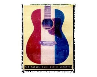 Pat Smear Nirvana guitar art print / music gift / rock n roll art / music room decor / guitar gift / man cave art