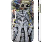 Phone Case of The Weeping Angel from Doctor Who