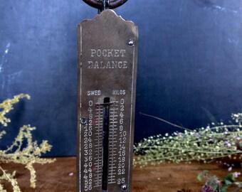 Danish Vintage Small Scale Weight Pocket Balance