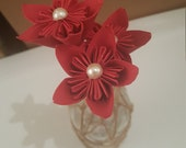 MOVING SALE: Rocking Red Mini Brown Paper Stemmed Trio