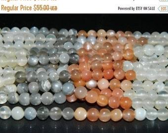 20%off. 20 Percentoff. 14 Inches long strand-Natural Multi Moonstone Smooth round-Multi moonstone smooth cut Plain Beads -Free Shipping