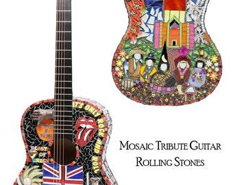Rolling Stones Tribute Guitar Note Card