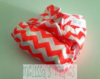 Neon Chevron - Newborn Diaper - Newborn Cloth Diaper - Newborn Nappie - Baby Shower Gift - New Mom Gift - AIO Diaper - First Baby Gift