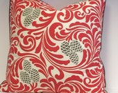 "WINTER'S PINECONE Motif 20"" Pillow Cover"