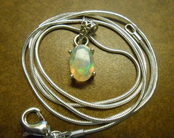 Ethiopian Welo Opal  Pendent with Chain