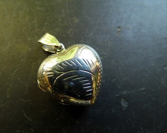 Heart silver, sterling silver, hinged, photo, sterling silver, girls