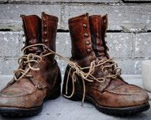 Vintage Work Boots Size 10 mens