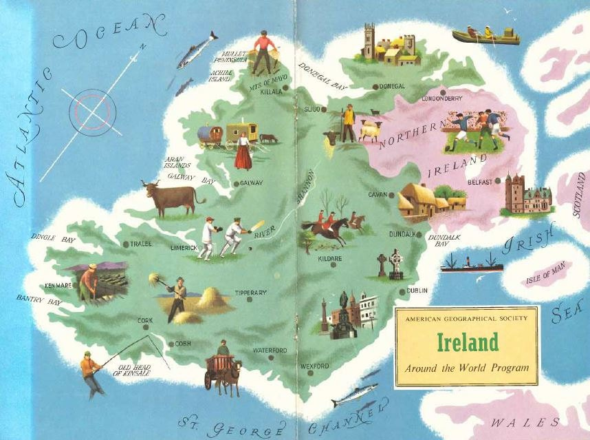 Ireland travel – Travel Map of Ireland