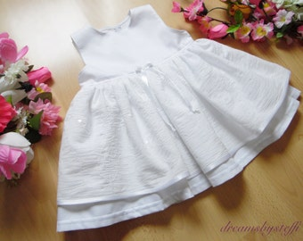 Short christening gown Sequins