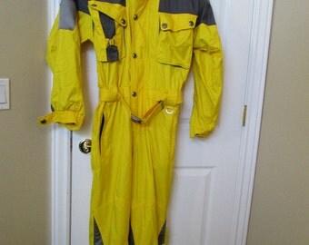 Marker SKI Suit snowsuit Snowboard Snowmobiling suit Medium yellow Unisex FREE SHIPPING!!!