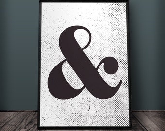 Ampersand Print, Ampersand Wall Art, Ampersand Wall Decor, Printable Ampersand, Large Ampersand Print, Ampersand Print