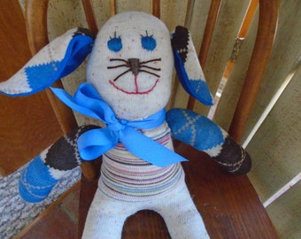 Handmade Lop Ear Sock Bunny  Rabbit For Easter