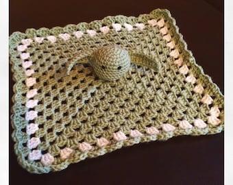 Star Wars Crochet Yoda lovey blanket plush *made to order*