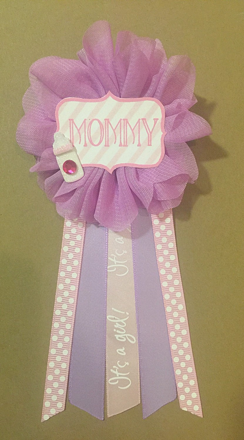 purple baby shower corsage pin mommy to be flower by afalasca