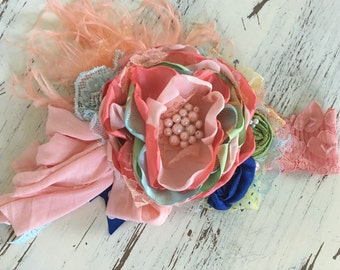 Baby Girl Headband, Flower Girl Headband, Baby Headband- Matilda Jane Headband-  Avry Couture- Lace Headband, Boho Headband