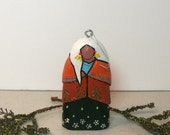 Earth Mother Native American Indian gift present art doll Christmas tree ornament