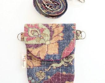 Mini Cross-body Bag, Cell Phone Case, HIP Mini Small Purse, iPhone 6 Plus, Hip Pack, Travel Small Bag, Mini Purse, Passport Bag, Small Bag