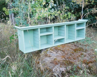 1940s Farmhouse Pigeon Hole Cubbyhole Wall Shelf Edwardian Beach Cottage Organizer Cupboard Display Shelf Antique Victorian French Country