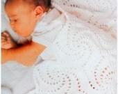Baby Blanket Crochet Pattern, Baby Afghan, Crib Blanket, Pinwheels Blanket