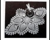 Pineapple Crochet Doily Pattern, Cotton Thread Table Mat Pattern
