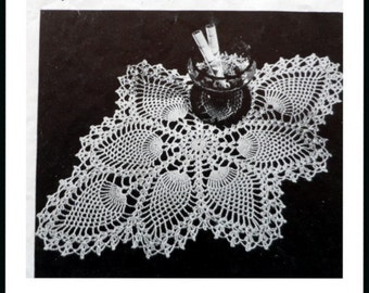Pineapple Crochet Doily Pattern, Cotton Thread Table Mat Pattern