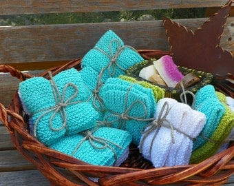 Knitted washclothes