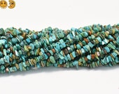 35 inch strand of Turquoise chip beads,nugget beads 3-7mm