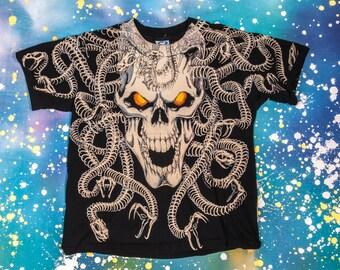 Medusa SKULL T-Shirt Size L