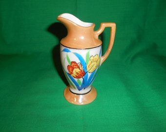 """One (1), 5"""" Tall, Lustreware Pitcher, from Seiei Co, of Japan. Circa 1920's."""