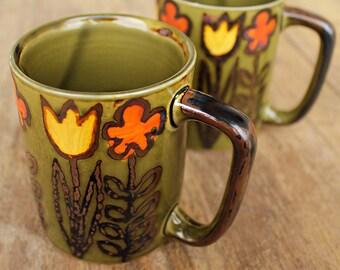 Flower Power 70s Mug Vintage