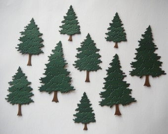 9pc. Pine Tree Die Cut Embellishment Set for Scrapbooking & Card Making