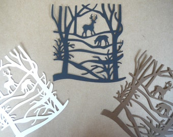 Deer Die Cut Embellishment for Scrapbooking, Card Making