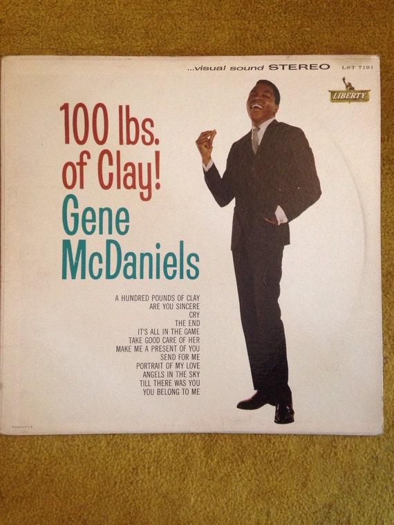 Gene McDaniels 100 lbs of Clay LST 7191 stereo Vinyl LP Record Jazz 1960s