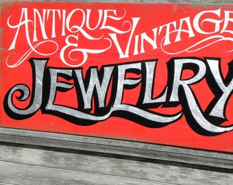 Jewelry style Trade  Sign,hand painted, original ZD M J1