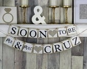 Soon to Be Mr and Mrs Banner, Soon to be banner, Engagement Party Decor, Engagement Party Ideas, Engagement Banner, She said yes