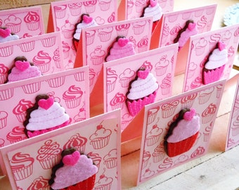 Cupcake 3x3 Mini Cards Gift Tags Set of 12
