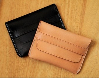 100% Hand-stitched Vegetable Tanned Leather Card Case