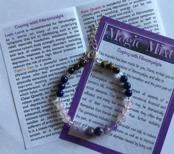 Fibromyalgia and CFS/ME  Gemstone Awareness Bracelet, helping awareness of chronic conditions using Gemstones