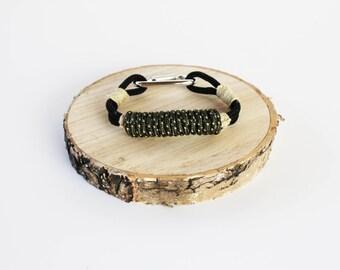 Hemp Carabiner Style Rope Bracelet