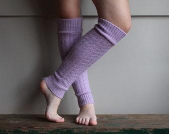 Cable Knit Leg Warmers, felted wool leg warmers,boot warmer, Purple or Lavender leg warmers
