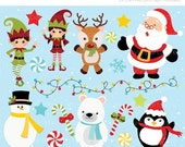 ON SALE - Santas Little Helpers Clip Art / Digital Clipart - Instant Download (updated)