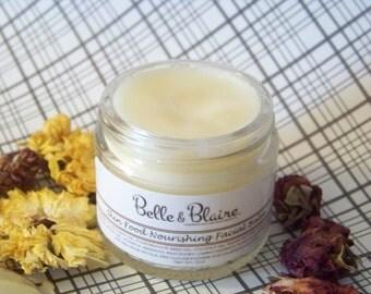 Skin Food Nourishing Facial Balm- Plant Based Organic Skin Care- 2oz
