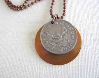 SALE, Thailand Coin Necklace, Thailand, Coin Necklace, Copper