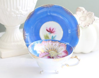 Vintage Footed Tea Cup and Saucer by Royal Sealy, Gifts for Her, Replacement China