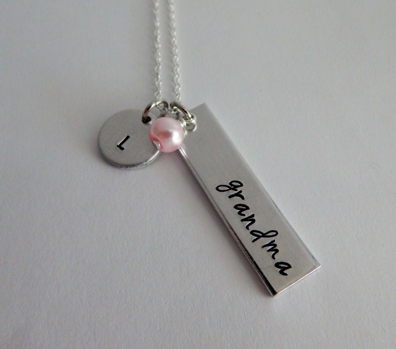 Grandma necklace gift for grandma grandmother jewelry for Grandmother jewelry you can add to