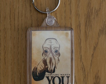 Cthulhu Wants You!!  Key Ring, Key Fob