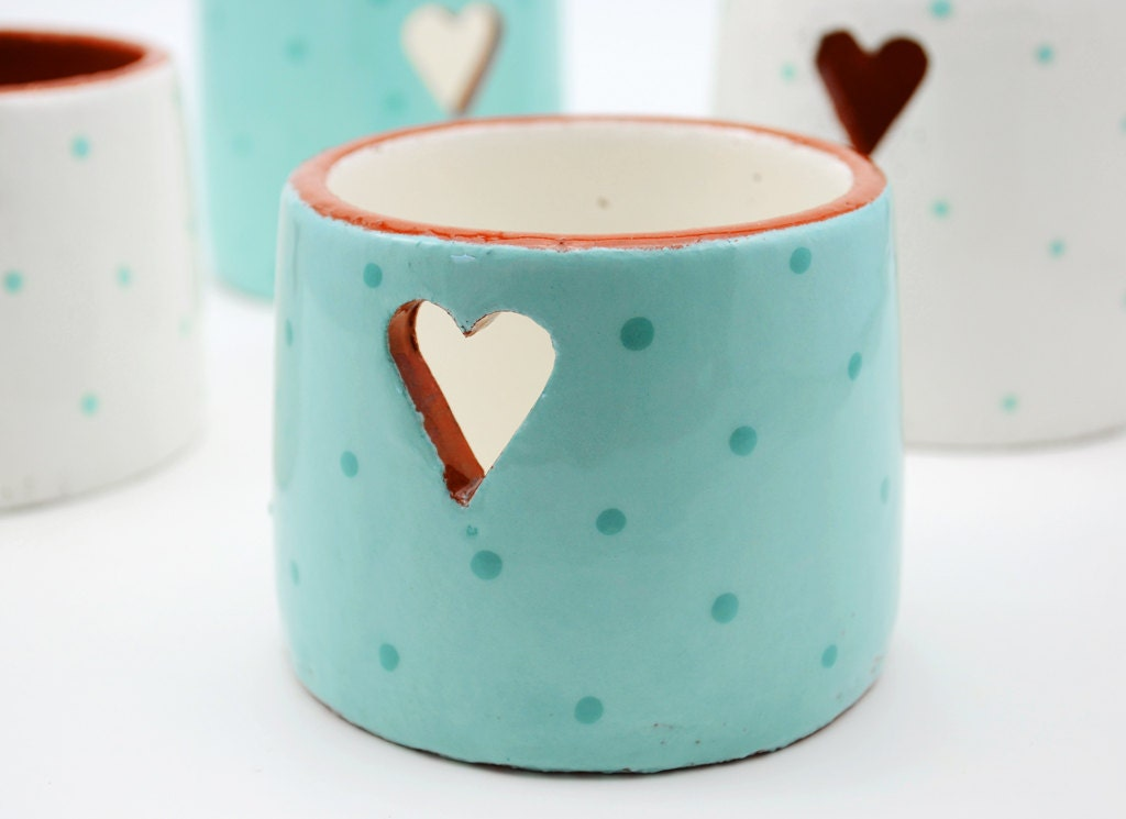 Ceramic votive holder votive candle holder votives tea for Best brand of paint for kitchen cabinets with hanging crystal candle holder