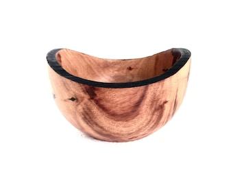Wood Bowl No.160611-Natural Edge Carboncillo Wood