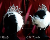 RESERVED - Odette ballet headpiece with white feathers and separate silver tiara